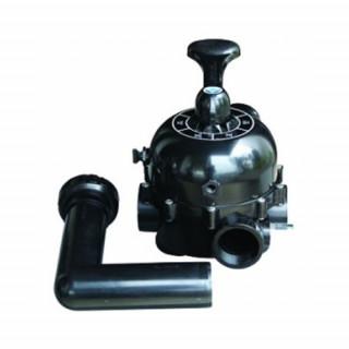 Кран шестиходовой Aquaviva 2'' (боковое подключение) для фильтров серии S