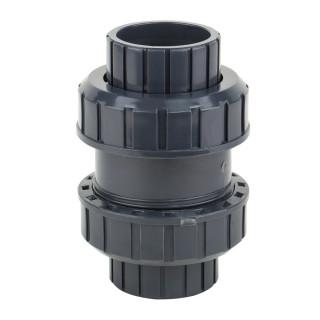 Обратный клапан шаровый ПВХ Aquaviva с муфтовым окончанием