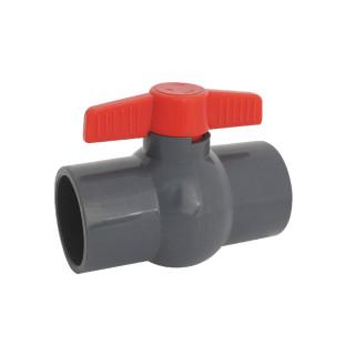 Шаровый кран ПВХ Aquaviva компактный (неразборный)