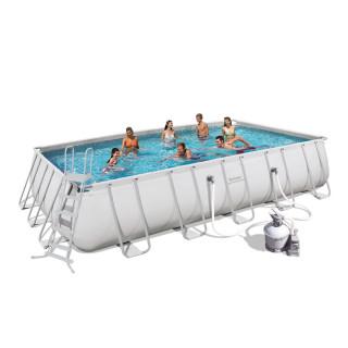 Каркасный бассейн Bestway 56257 (671x396x132) с песочным фильтром
