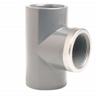 Тройник 90° переходной ПВХ EFFAST RGRTIR с внутр. резьбой (металлическое кольцо)