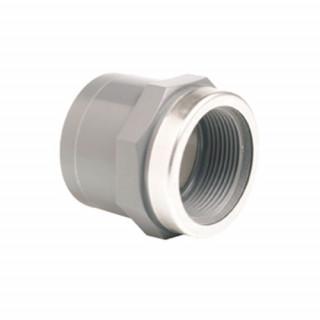 Муфта переходная ПВХ EFFAST RGRMAR с внутр. резьбой (металлическое кольцо)