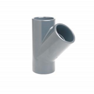 Тройник 45° ПВХ EFFAST RDRTYD клеевой