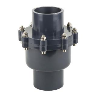 Обратный клапан поворотный (лепестковый) ПВХ Aquaviva с муфтовым окончанием