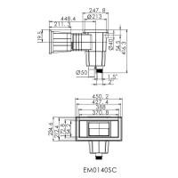Скиммер под бетон Aquaviva EM0140-SС Wide