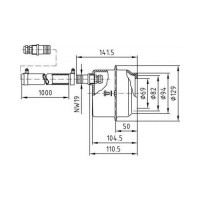 Закладная для прожектора Hugo Lahme (4250050) d110 mm