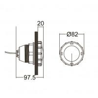 Светодиодный прожектор EMAUX LED-P50(White) 1 Вт