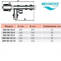 Электронагреватель Behncke EWT 80-70/15 15 кВт 400В с термостатом