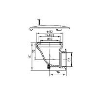 Донный слив Fitstar с бок подкл (2015020) бронза