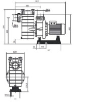 Насос Hayward HCP38453E1 (380V, 4,5HP)