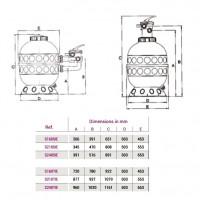 Фильтр Hayward PRO S160TIE (6м³/час, D400)