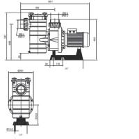 Насос Hayward HCP38253E KAP250 T1 IE3 (380В, 41 м³/час, 2.5HP)