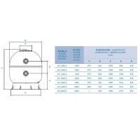 Фильтр Fiberpool AK40 1800.B (101м3/ч, D1800)