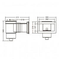 Скиммер под бетон Aquaviva Wide EM0020C