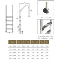 Лестница Aquaviva Standard NSL315-SR (3 ступ.)
