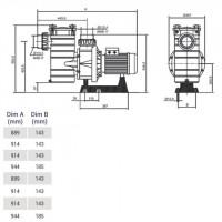 Насос Hayward HCP40653E1 (380/700V, 6,5HP)