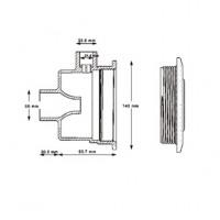 Форсунка гидромассажная Hayward TURBO-JET SP1450TE под бетон (50 мм)