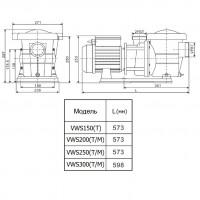 Насос AquaViva LX STP300T/VWS300T 30 м³/ч (3HP, 380В)