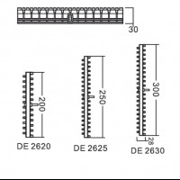Переливная решетка Aquaviva DE2620 с центральным соединением (200х30 мм)