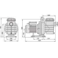 Насос AquaViva LX SWIM100M 19 м³/ч (1,5HP, 220В)