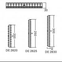 Переливная решетка Aquaviva DE2625 с центральным соединением (250х30 мм)