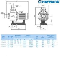 Насос Hayward HCP10301E BC300/KA300 (220V, 3HP)