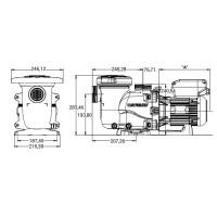 Насос Hayward Max-Flo XL SP2310VSTD (220В, 16.5 м³/час, 1HP), с пер. скор.