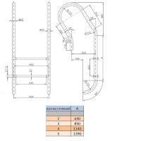 Лестница Fiberpool Mixta YEMX043 (3 ступ.)