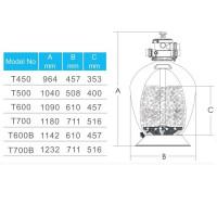 Фильтр Aquaviva T700B Volumetric (19.5 м³/ч, D711)