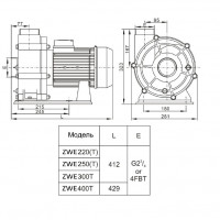 Насос AquaViva LX WTB400T/ZWE400T 80 м³/ч (5,5HP, 380В)