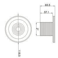 Форсунка стеновая Aquant 21203 (63 мм) под бетон