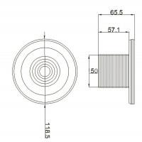 Форсунка стеновая Aquant 02100101 (63 мм) под бетон