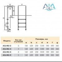 Лестница Aquaviva Muro MU-415 (4 ступ.)
