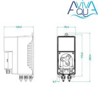 Перистальтический дозирующий насос AquaViva Cl 1,5 л/ч (KURX1H1HA1003) с авто-дозацией, регулир. скорость