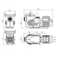 Насос EMAUX EPV300 (220В, 34.5м³/час, 3HP) с пер. скор.