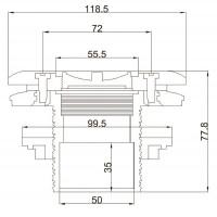 Форсунка стеновая Aquant 21204 (63 мм) под лайнер