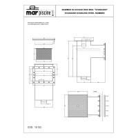 """Скиммер под лайнер Marpiscine 19102 стандарт (2"""") нерж.сталь"""