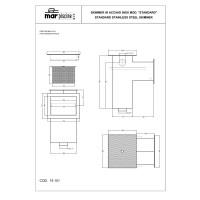 """Скиммер под бетон Marpiscine 19101 стандарт (2"""") нерж.сталь"""
