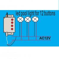 Пульт с блоком управления AquaViva SL-P-C1 к фонарям PAR56