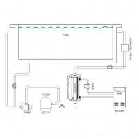 Теплообменник Elecro WHE 40 кВт (titanium)