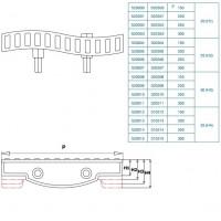 Переливная решётка Nexus Twin Onda 250/25